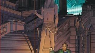 Détail de la couverture du nouvel album de Blake et Mortimer, «Le dernier Pharaon», de François Schuiten, Jaco Van Dormael, Thomas Gunzig et Laurent Durieux.