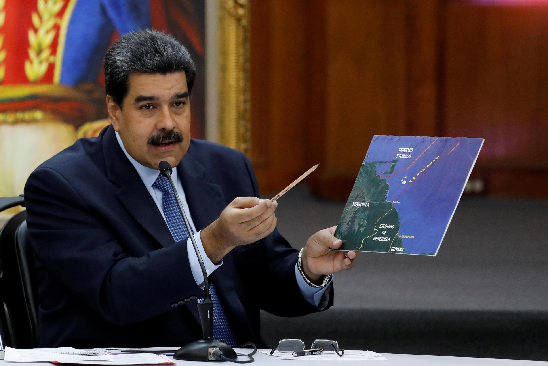 Le président vénézuélien Nicolas Maduro lors d'une conférence de presse, le 9 janvier 2019, à Caracas.