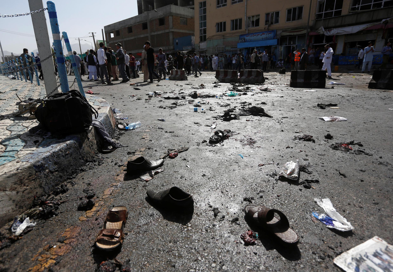 Kaboul, 23 juillet 2016. L'attentat qui a frappé un rassemblement chiite est l'un des plus sanglants jamais commis dans la capitale afghane.