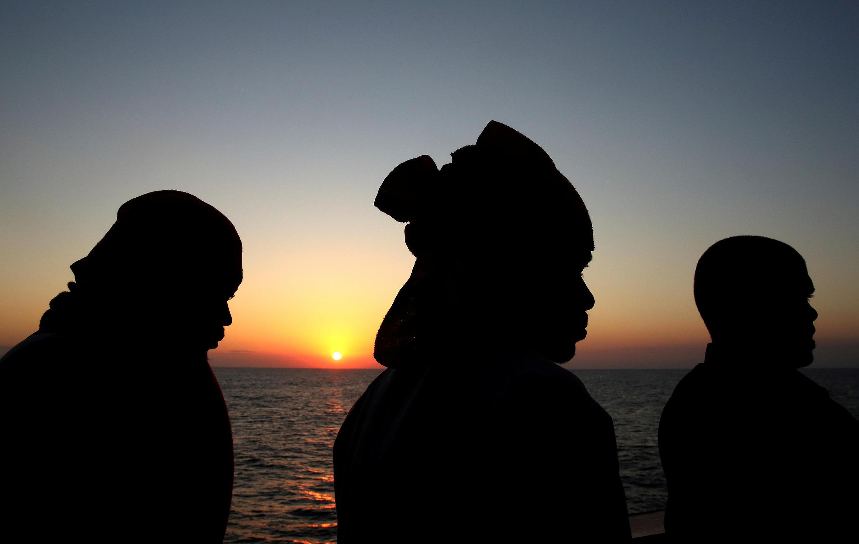 Migrants au large des côtes libyennes, le 19 juin 2017.