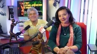 Juan Carlos Franco y Adriana Silva en los estudios de RFI