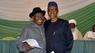 Yarjejeniyar amincewa da matakin kaucewa rikici tsakanin Goodluck Jonathan da Janar Muhammadu Buhari a zaben 2015.