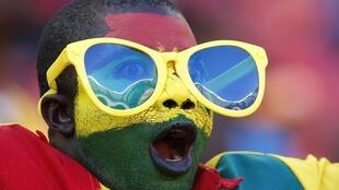 Ghana fans cheer their team during their soccer match against Mali, 24 January, 2013