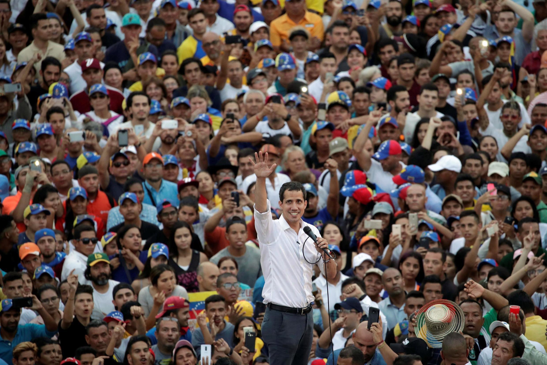 Le leader de l'opposition vénézuélienne Juan Guaido, lors d'une meeting à Maracaibo, en avril 13, 2019.