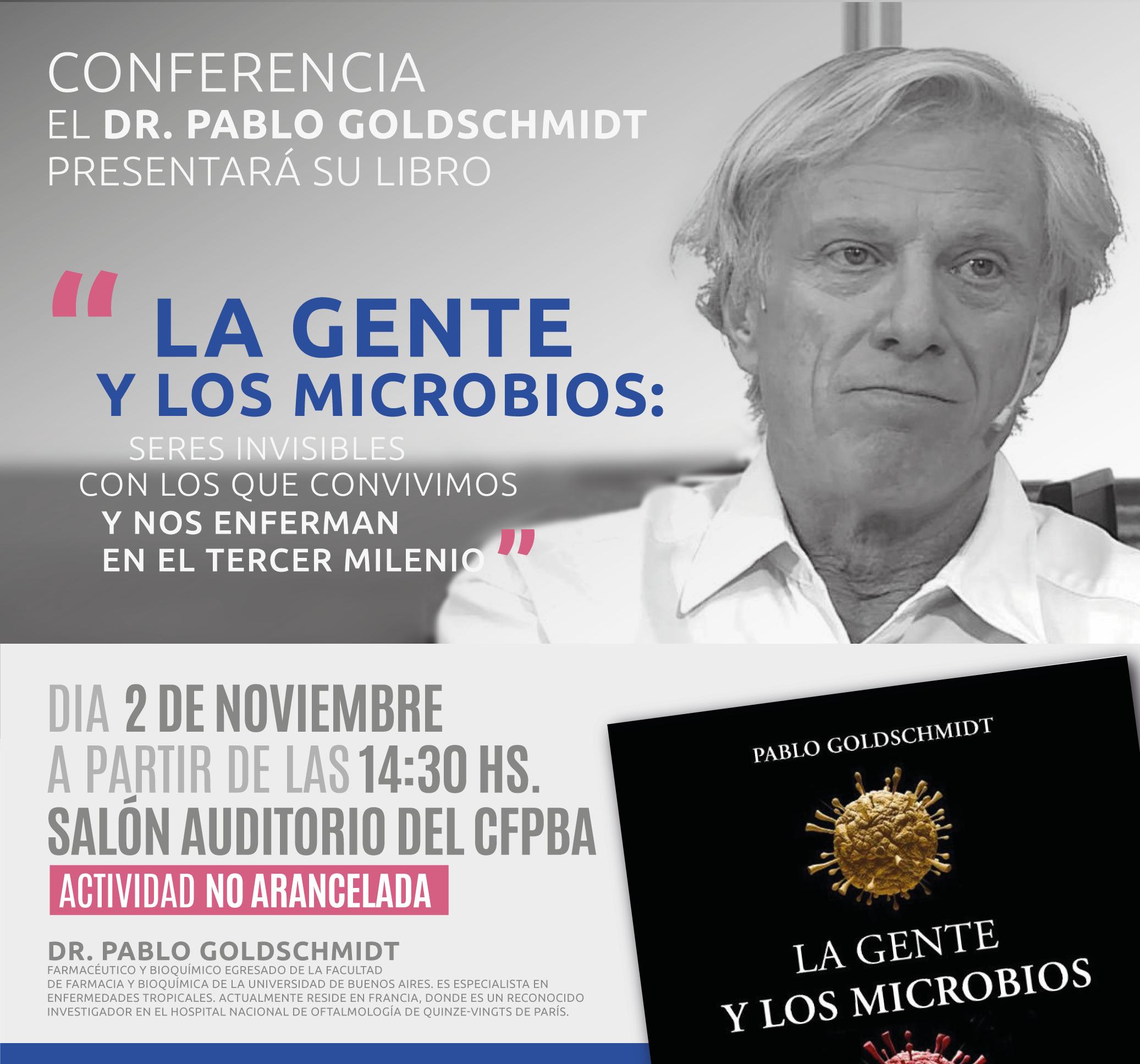 Cartel de la presentación del libro en Buenos Aires