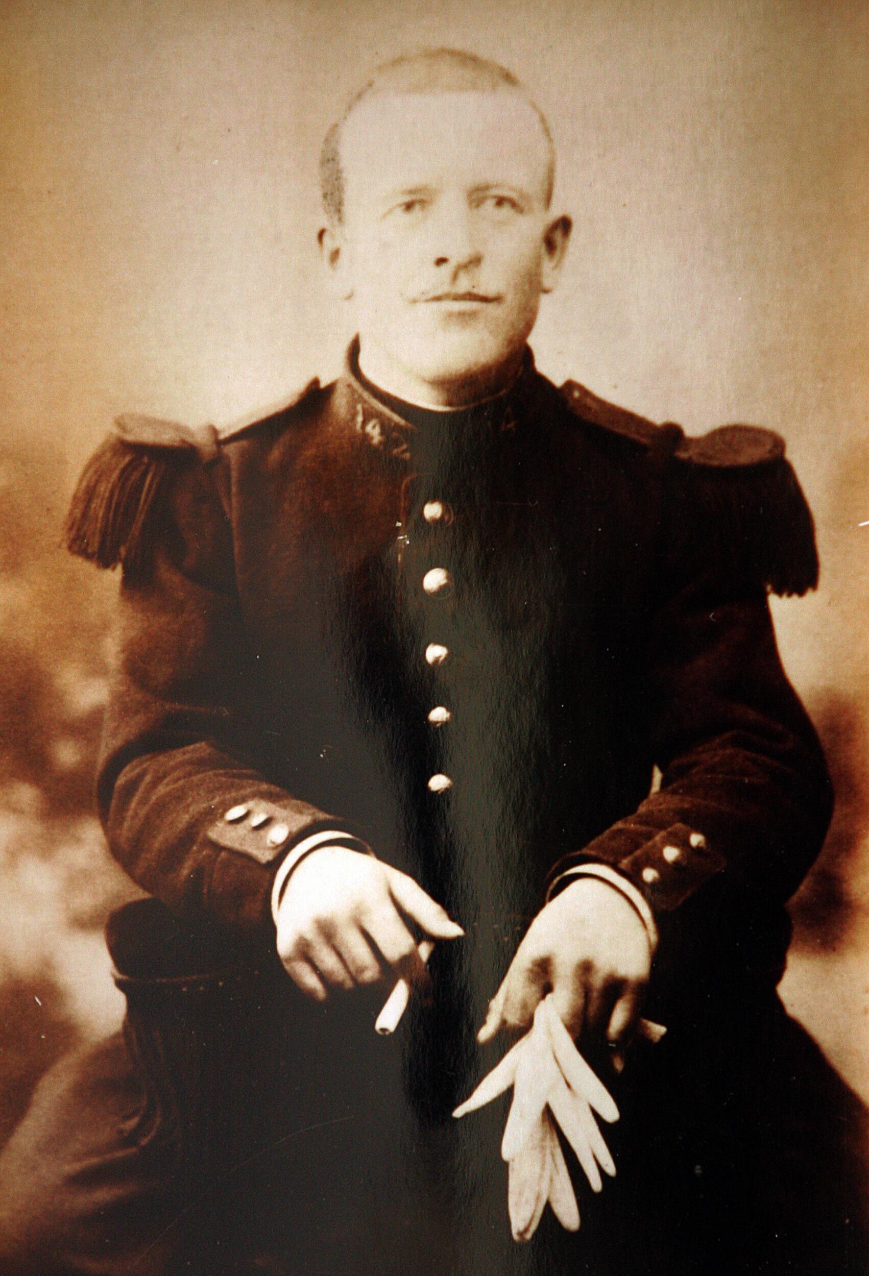 Reproducción hecha el 5 de noviembre de 2009 de una foto del soldado Augustin Trébuchon.
