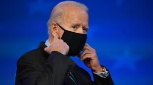 El presidente electo de EEUU Joe Biden el 16 de enero de 2021 en Wilmington, Delaware