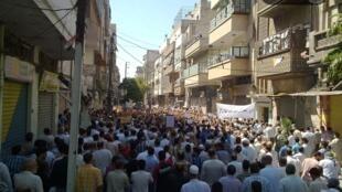 Антиправительственная манифестация в Сирии