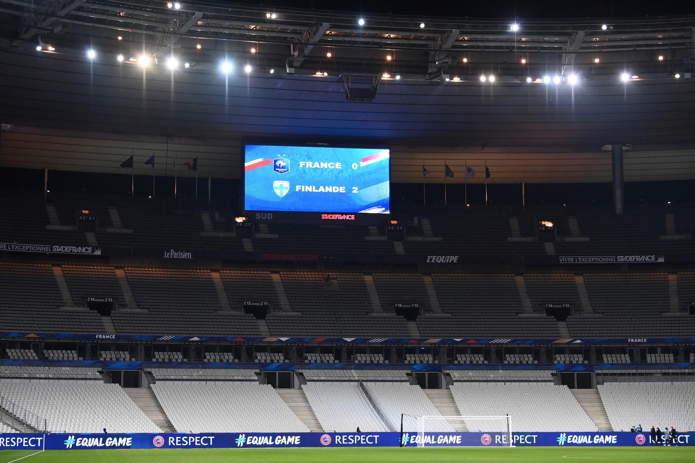 """Результаты товарищеского матча между футбольными сборными Франции и Финляндии, проходившего на пустом """"Стадде Франс"""" 11 ноября 2020 года."""