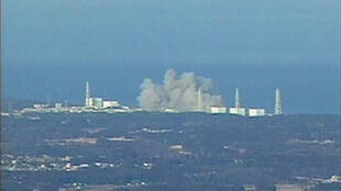 Explosion de la centrale nucléaire de Fukushima 1 Daichi, le 12 mars 2011.