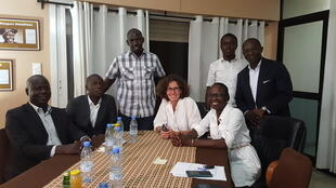 Emmanuelle Bastide, Didier Acouetey et Thiaba Camary Sy avec les JPAG !