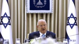 El presidente israelí Reuven Rivlin durante las negociaciones para formar una coalición de gobierno, este 22 de septiembre de 2019.