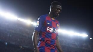 Ousmane Dembele, dan wasan gaba na Barcelona.