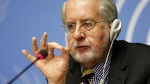 Paulo Pinheiro, presidente da Comissão de investigação da  ONU sobre a Síria, em Genebra, em  2015.