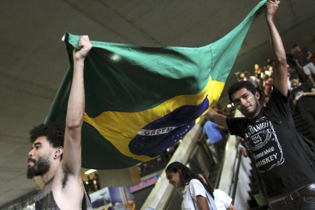 Manifestantes em Brasília, 19 de junho de 2013