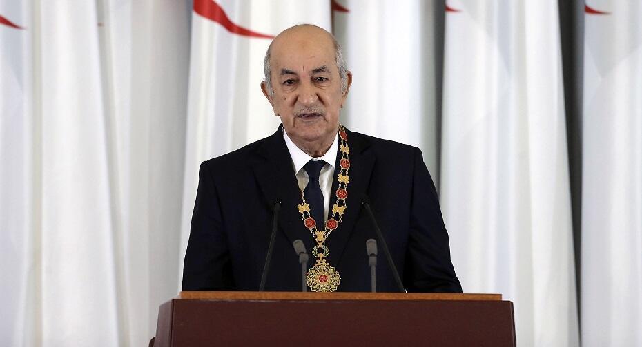 O Presidente da Argélia, Abdelmajid Tebboune