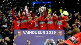 Le Stade rennais football club, club Breton remporte la Coupe de France 2019.