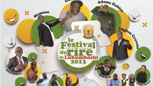 Affiche du festival du rire de Lubumbashi, qui se termine ce lundi 29 avril au soir.