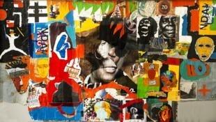 António Ole, O Mural de Maculusso. 2014. Técnica mista. 52 × 281 cm. Coleção ACCA.