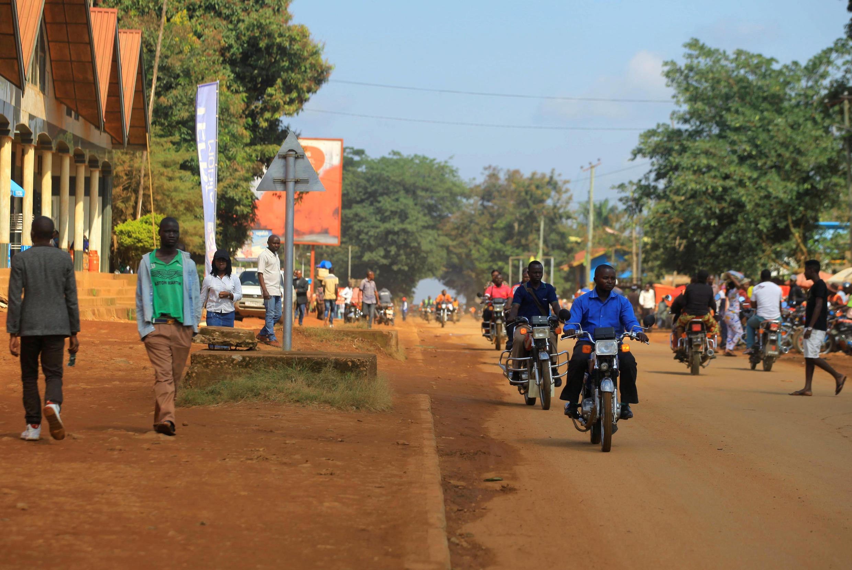 Une rue de Beni, la capitale provinciale du Nord-Kivu où ont été découverts de nouveaux cas d'Ebola.