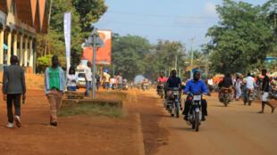 Une rue de Béni, la capitale provinciale du Nord-Kivu en République démocratique du Congo.