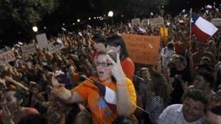 Manifestação em defesa do direito ao aborto em Austin, Texas, no dia 13 de julho de 2013.