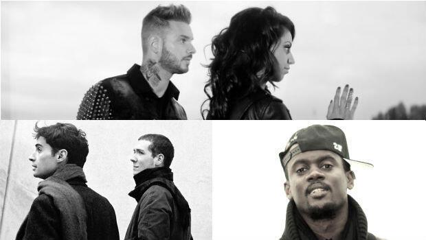 Матье Покора и Тал (сверху) дуэт Paradis (внизу слева) и рэпер Black M