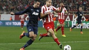 Manchester United sucumbiu diante do Olympiakos nesta terça-feira (25), nas oitavas de final da Liga dos Campeões.