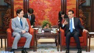 李克强会见谷内正太郎协调G20两国首脑会谈事宜2016年8月25日