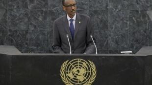 Paul Kagamé, le président rwandais à la tribune de l'ONU, le 25 septembre 2013.