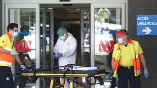 Emergencias en el Hospital Arnau de Vilanova en Lleida, España. 4 de julio de 2020.