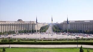 Vue de Bucarest, la capitale de la Roumanie.