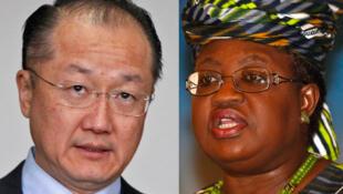 Jim Yon Kim, da  Ngozi Okonjo-Iweala, wadanda zasu fafata a zaben shugabancin Babban Bankin Duniya