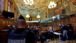Зал заседаний суда, в котором проходит процесс над братом «тулузского стрелка», 2 октября 2017.