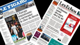 Os jornais franceses Le Figaro e Les Echos trazem matéria sobre o futuro da União Europeia após a saída do Reino Unido do bloco.