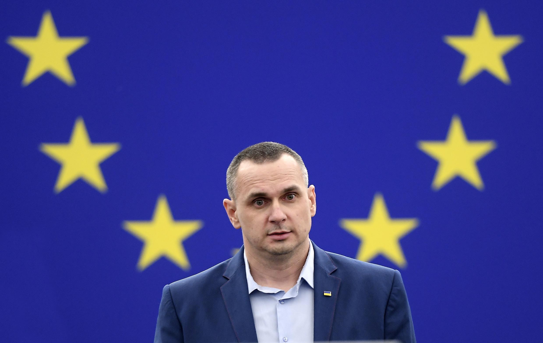 Олег Сенцов в Европарламенте, 26 ноября 2019