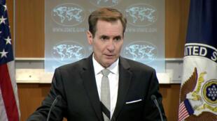 Phát ngôn viên ngoại giao Mỹ John Kyrby, trong một cuộc họp báo tại Washington DC ngày 01/07/2016.