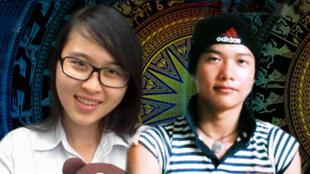 Hai sinh viên Nguyễn Phương Uyên (T) và Đinh Nguyên Kha