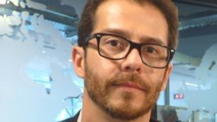 Daniel Quirós en los estudios de RFI
