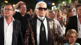 Chanel's artistic director Karl Lagerfeld