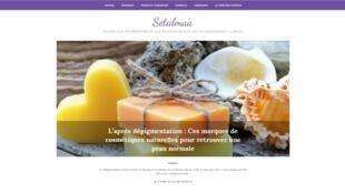 La page d'accueil du site internet Setalmaa, marque créée par Aminata Thior.