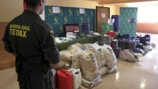 Saisie d'explosifs appartenant à l'ETA, le 16 avril 2011, à San Sebastian.