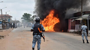 Clashes erupted in several cities Thursday, killing one in Cote d'Ivoire