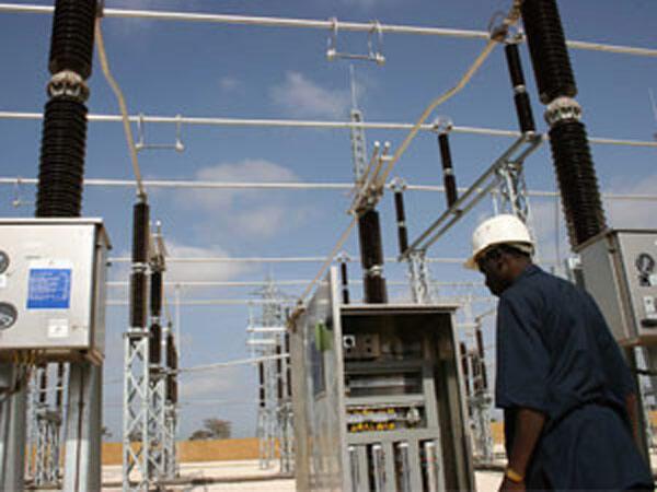 Un poste haute tension du réseau électrique de la société sénégalaise d'électricité, Senelec.