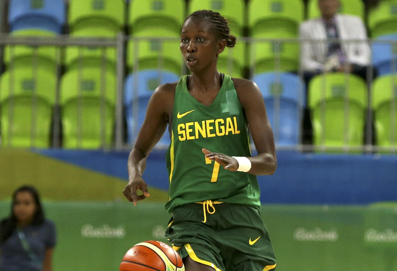La joueuse sénégalaise Fatou Dieng aux JO de Rio, le 7 août 2016.