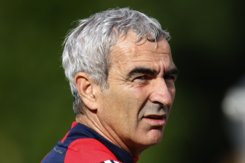 Le sélectionneur de l'équipe de France de football, Raymond Domenech.