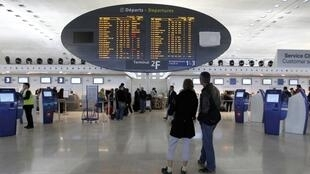 Roissy-Charles-de-Gaulle airport during a strike in February