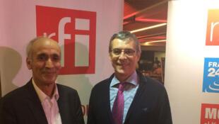Mohammed Kenbib, professeur à l'université Mohammed V de Rabat, et Eric Bataillon.