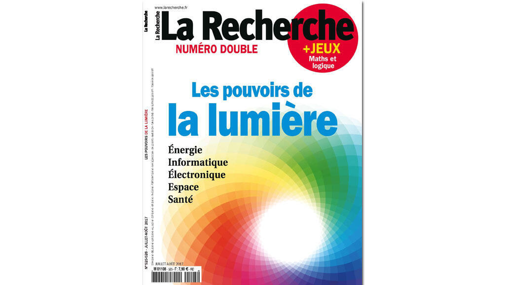 Couverture du magazine La Recherche (juillet-août 2017).