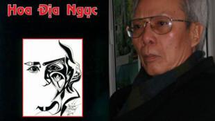 Nhà thơ Nguyễn Chí Thiện và trang bìa tập thơ Hoa Địa Ngục